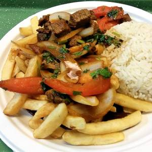 Lomo Saltado Platter from Estacion Inka in Madison, WI