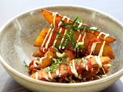 Patatas Bravas from Estrellon by Tory Miller in Madison, WI