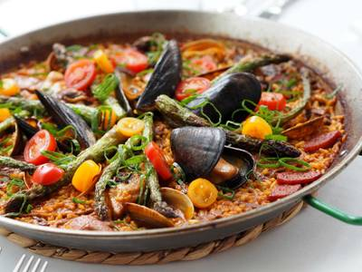 Valenciana Paella from Estrellon by Tory Miller in Madison, WI