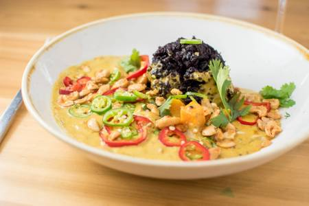 Butternut Squash + Forbidden Rice Curry from Everly in Madison, WI