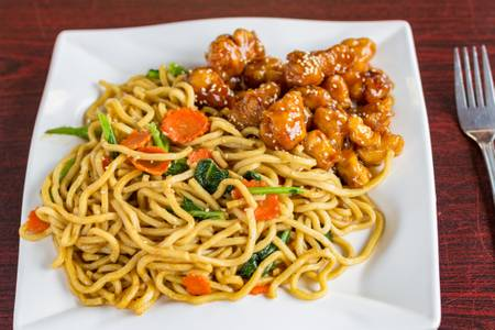 #24. Sesame Chicken with Lo Mein Noodles from Five Star Eggrolls in La Crosse, WI