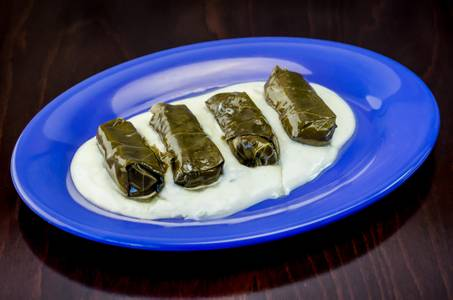 Grape Leaves (Dolmathes) (4 Pieces) from Freska Mediterranean Grill in Middleton, WI