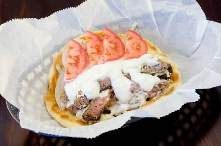 Grilled Steak Gyros Sandwich from Freska Mediterranean Grill in Middleton, WI