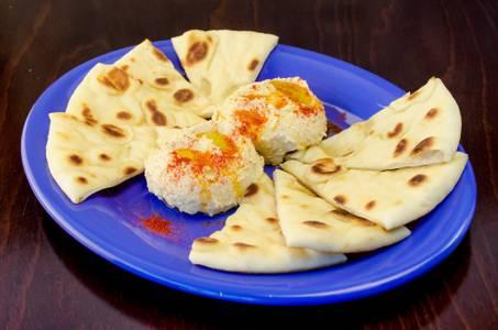Hummus with Pita from Freska Mediterranean Grill in Middleton, WI