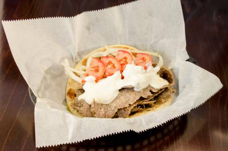 Lamb and Beef Gyros Sandwich from Freska Mediterranean Grill in Middleton, WI
