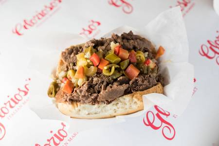 Italian Beef Sandwich from Glorioso's Italian Market in Milwaukee, WI