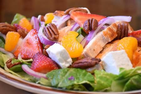 Strawberry Salad from Golden Basket Restaurant in Green Bay, WI