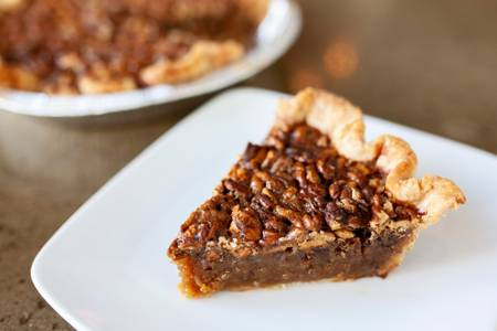 Hickory-Nut Bourbon Caramel Pie from Graze in Madison, WI