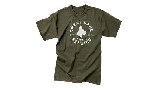 Logo Tee from Great Dane Pub & Brewing Company - Doty St in Madison, WI