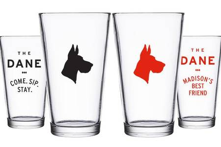 Great Dane Pint Glass from Great Dane Pub - Fitchburg in Fitchburg, WI