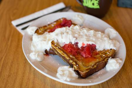 Cinnamon French Toast from Greengrass Cafe in La Crosse, WI