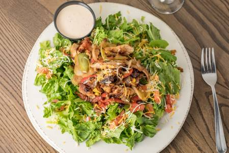 Applewood Bacon & Fajita Chicken Salad from Grizzly's Wood-Fired Grill in Eau Claire, WI