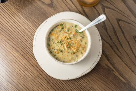 Minnesota Chicken Wild Rice Soup from Grizzly's Wood-Fired Grill in Eau Claire, WI