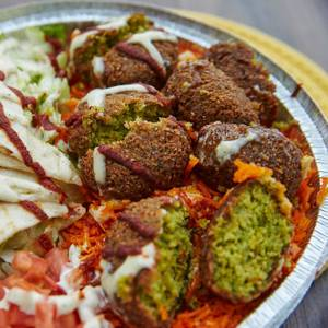 Falafel Platter from Halal Guys in Milwaukee, WI