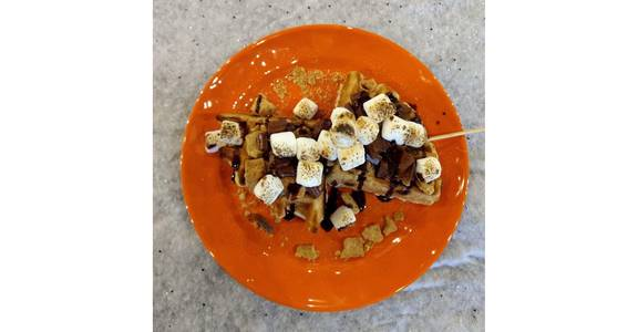 Loaded Waffle from Hangout MKE in Milwaukee, WI