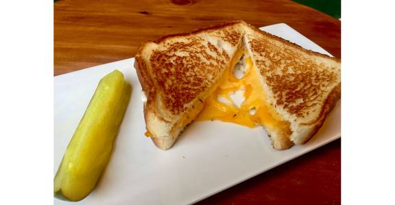 Quad Grilled Cheese + Pickle from Hangout MKE in Milwaukee, WI