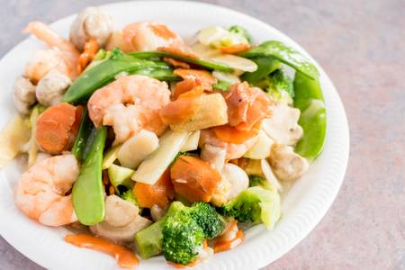 D6. Diet Shrimp Mix Vegetable from Happy Wok - 2409 W Broadway, Monona in Monona, WI