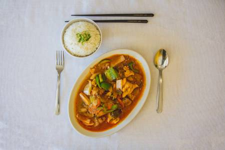 13. Red Curry from Hmong's Golden Egg Roll in La Crosse, WI