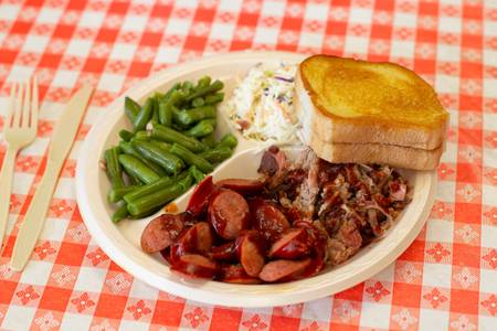 2 Meats BBQ Dinner from Hog Wild Pit BBQ & Catering in Lawrence, KS