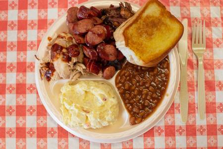 3 Meats BBQ Dinner from Hog Wild Pit BBQ & Catering in Lawrence, KS