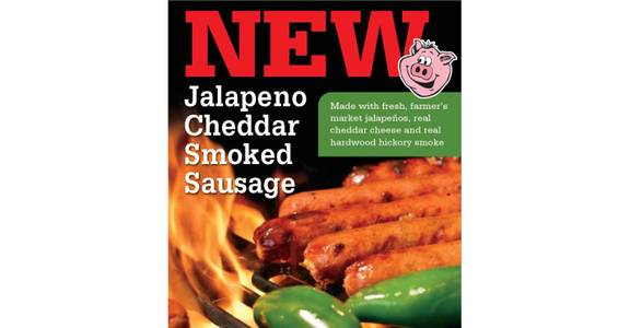 Individual Jalapeno Cheddar Smoked Sausage from Hog Wild Pit BBQ & Catering in Lawrence, KS