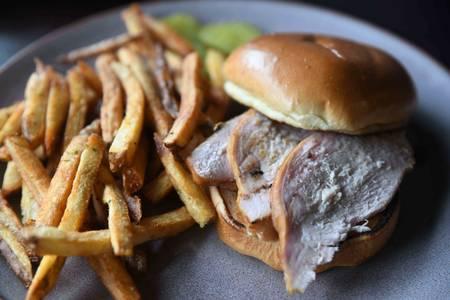 Smoked Turkey Sandwich from Iron Rail Brewing in Topeka, KS