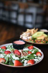 Spinach Strawberry Salad (V)/(GF) from Iron Rail Brewing in Topeka, KS