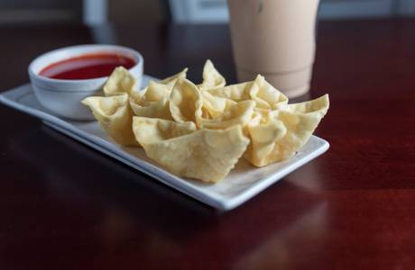 Fried Crab Rangoon (8) from Jade Dragon Restaurant in Oshkosh, WI