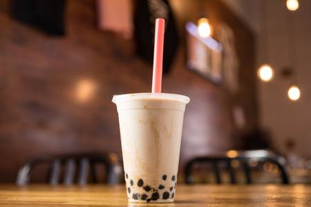 Bubble Milk Black Tea from KBG Korean BBQ & Grill in New Brunswick, NJ