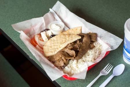 Traditional Gyro Plate from Kentro Gyros in Green Bay, WI