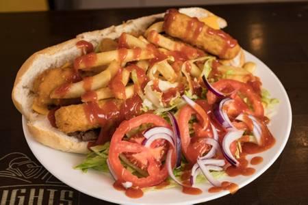 Fat Beach Sandwich from Knights Express Pizza & Grill in New Brunswick, NJ