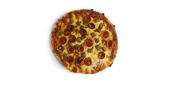 Regular Crust Pizza: Sausage/Pepperoni from Kwik Star - Waterloo Cedar Bend St in Waterloo, IA