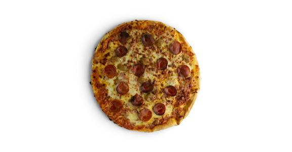 Specialty Pizza: 4-Meat from Kwik Star - Waterloo Cedar Bend St in Waterloo, IA