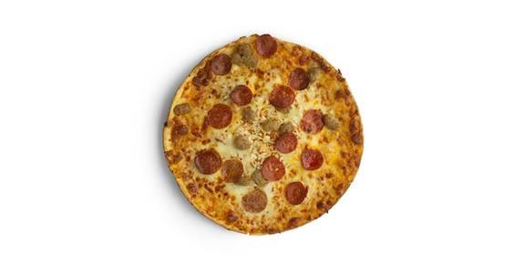 Thin Crust Pizza: Sausage/Pepperoni from Kwik Star - Waterloo Cedar Bend St in Waterloo, IA