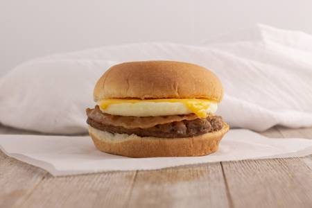 Breakfast Burger from Kwik Star - Waterloo Broadway St in Waterloo, IA