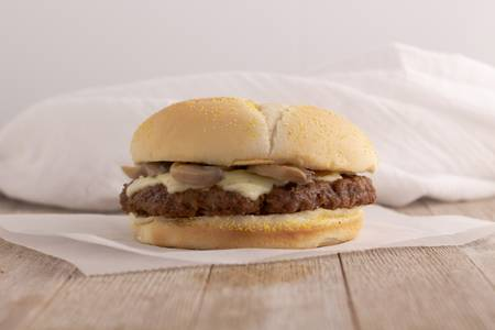 Cheeseburgers: Angus Mushroom Swiss Burger from Kwik Star - Waterloo Broadway St in Waterloo, IA