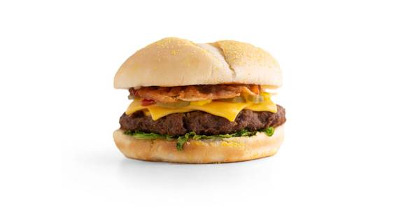 Cheeseburgers: Angus Bacon Cheeseburger from Kwik Star - Waterloo Broadway St in Waterloo, IA