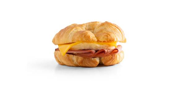 Croissant Breakfast Sandwiches: Ham, Egg & Cheese Croissant from Kwik Star - Waterloo Broadway St in Waterloo, IA