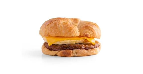 Croissant Breakfast Sandwiches: Sausage, Egg & Cheese Croissant from Kwik Star - Waterloo Broadway St in Waterloo, IA