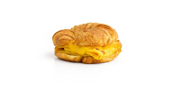 Croissant Breakfast Sandwiches: Western Croissant from Kwik Star - Waterloo Broadway St in Waterloo, IA