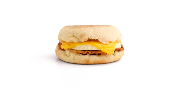 English Muffin Breakfast Sandwiches: Bacon, Egg, & Cheese Muffin from Kwik Star - Waterloo Broadway St in Waterloo, IA