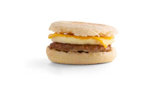 English Muffin Breakfast Sandwiches: Sausage, Egg, & Cheese Muffin from Kwik Star - Waterloo Broadway St in Waterloo, IA