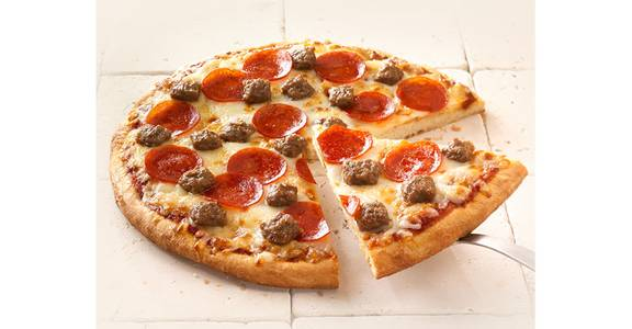 Regular Crust Pizza: Sausage/Pepperoni from Kwik Star - Waterloo Broadway St in Waterloo, IA