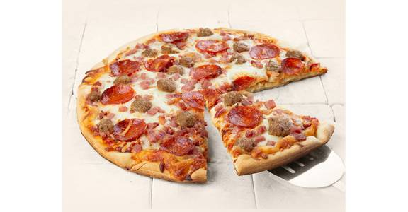 Specialty Pizza: 4-Meat from Kwik Star - Waterloo Broadway St in Waterloo, IA