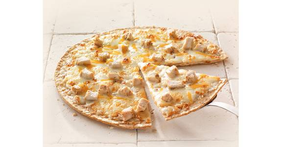 Thin Crust Pizza: Chicken Alfredo from Kwik Star - Waterloo Broadway St in Waterloo, IA