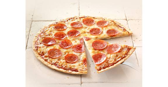 Thin Crust Pizza: Pepperoni from Kwik Star - Waterloo Broadway St in Waterloo, IA
