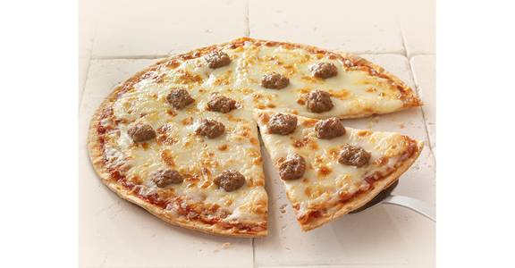 Thin Crust Pizza: Sausage from Kwik Star - Waterloo Broadway St in Waterloo, IA