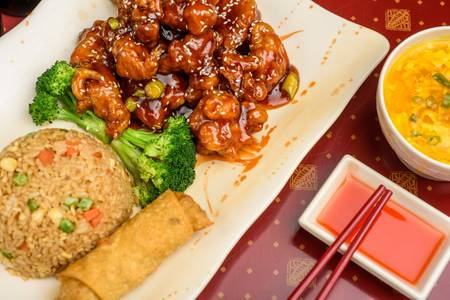 C 3. Sesame Chicken (Dinner Combo) from Ling's Bistro in Topeka, KS