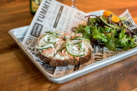 Smoked Trout Sandwich from Longtable Beer Cafe in Middleton, WI