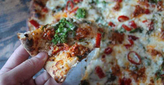Sausage and Rabe Pizza from Lucille in Madison, WI